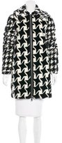 Stella McCartney Houndstooth Knee-Length Coat