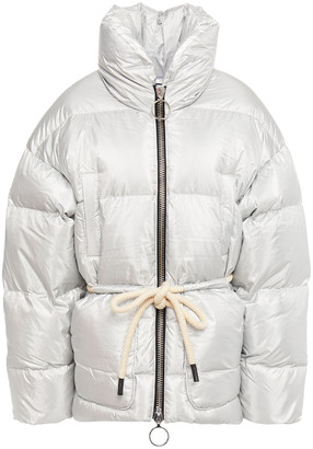 Ienki Ienki Mishko Belted Metallic Quilted Shell Down Jacket