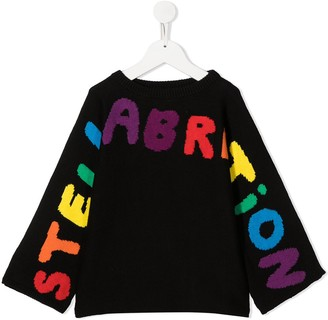Stella Mccartney Kids Stellabration cotton jumper