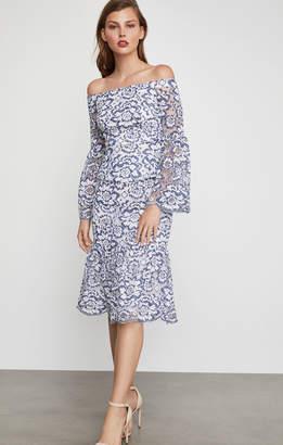 BCBGMAXAZRIA Jesse Floral Lace Midi Skirt
