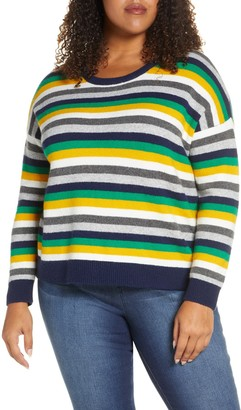 Court And Rowe Multistripe Crewneck Sweater