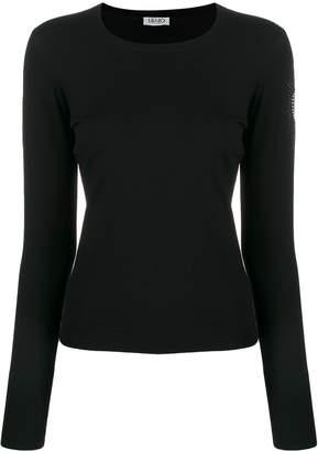 Liu Jo embellished sleeve knit sweater