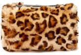 Forever 21 Leopard Faux Fur Makeup Bag