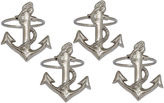 DESIGN IMPORTS Design Imports Anchor Set of 4 Brass Napkin Rings