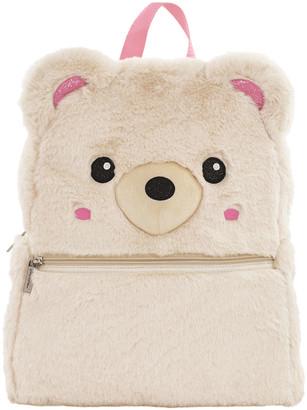 Iscream Girl's Bear Faux Fur Backpack