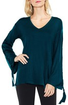 Vince Camuto Petite Women's Lace-Up Bell Sleeve Sweater
