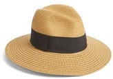 Nordstrom Women's Wide Brim Straw Panama Hat - Brown
