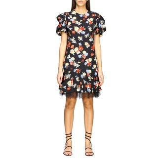 Ermanno Scervino Dress Printed Silk Dress With Lace Bottom