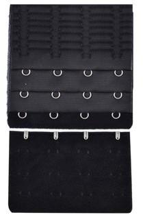 Unique Bargains Ladie's Bra Extender Strap Band Extension 3 Rows 4 Hooks