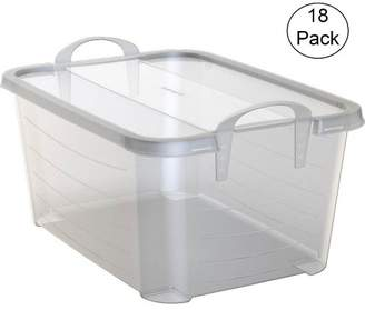 story. Life Clear Stackable Closet Organization & Storage Box, 55 Quart (18 Pack)