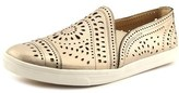 Earth Tangelo Women Round Toe Leather Gold Loafer.