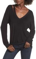 Socialite Women's Split V-Neck Sweater