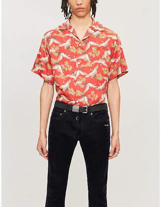 Amiri Graphic-print relaxed-fit silk shirt