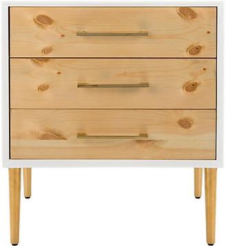 One Kings Lane Valery 3-Drawer Nightstand - Natural/White