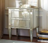 Pottery Barn Park Mirrored Bedside Table