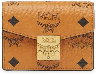MCM Patricia Visetos Coated Canvas Card Holder