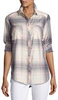 Dex Long-Sleeve Plaid Cotton Shirt