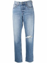 Thumbnail for your product : Rag & Bone Ripped-Knee Straight Jeans