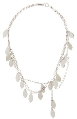 Isabel Marant So Long Joao Leaf Metal Necklace - Womens - Silver