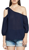 BCBGeneration One-Shoulder Chiffon Top