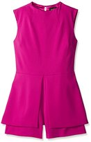 Laundry by Shelli Segal Women's Butter Crepe Sleeveless Romper
