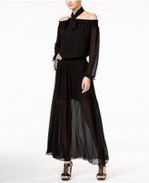MICHAEL Michael Kors Cold-Shoulder Maxi Dress