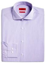 HUGO Micro Check Over Stripe Regular Fit Dress Shirt