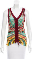 Jean Paul Gaultier Ruched Printed Top