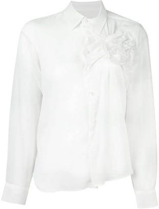 Comme des Garcons Pre-Owned flower appliqué blouse