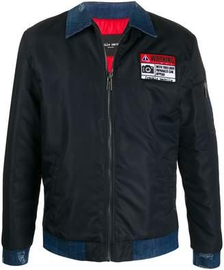 Frankie Morello Warning patch shirt jacket