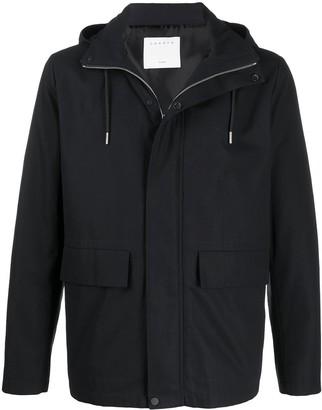 Sandro Paris High-Collar Hooded Jacket