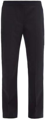 Alexander McQueen Tailored Wool-flannel Straight-leg Trousers - Navy