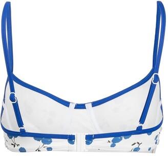 HVN Cherry-Print Bikini Top