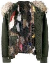 Mr & Mrs Italy fox fur lined bomber jacket