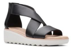 Clarks Collection Women's Jillian Rise Wedge Sandals Women's Shoes