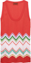 Missoni Crochet-knit cotton-blend tank