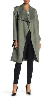 Elodie K Faux Suede Trench Coat