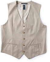 Perry Ellis Big & Tall Herringbone Vest