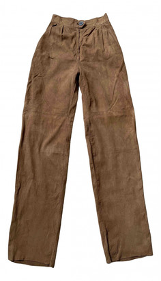 Hermes Camel Leather Trousers