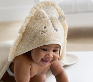 Pottery Barn Kids Super Soft Animal Baby Hooded Towel & Washcloth Set