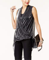 Alfani Metallic Asymmetrical Top, Created for Macy's