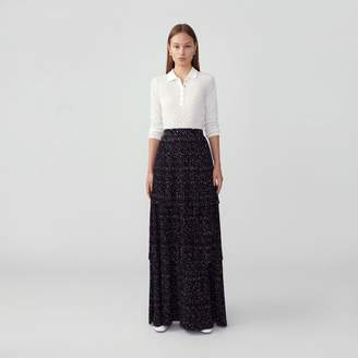Fame & Partners Tiered Pleated Skirt
