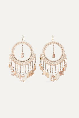 Rosantica Gold-tone Bead And Shell Earrings - White