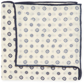 Brunello Cucinelli Floral Print Wool Pocket Square