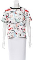 Opening Ceremony Niko High Gloss Print Top w/ Tags