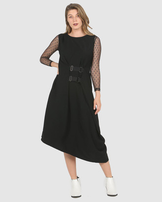 Faye Black Label Belted Boho Dress