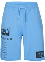 Topman Blue Print Raw Jersey Shorts