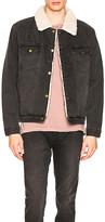 ROLLA'S Denim Sherpa Jacket. - size L (also