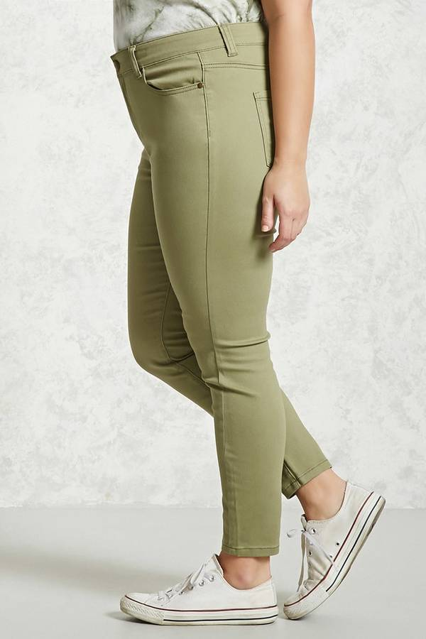 Forever 21 Plus Size High-Rise Denim Pants
