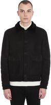 Salvatore Santoro Bomber In Black Leather